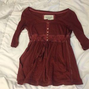 Red Flowy Shirt